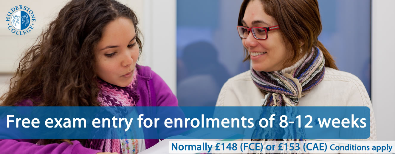 Free FCE and CAE entry for courses of 8 weeks+ June 2019
