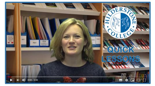 NEW! HILDERSTONE 'QUICK LESSONS' ON YOU TUBE AND SOCIAL MEDIA