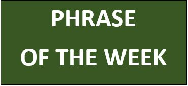 PHRASE OF THE WEEK: Big fish